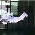 メッシュサイネージを使って浮遊感演出