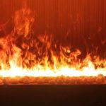 炎にタッチ!? 水蒸気に映像を投影した3D水蒸気LED暖炉