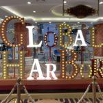 看板の装飾に!半球型LEDでレトロ遊園地感を演出