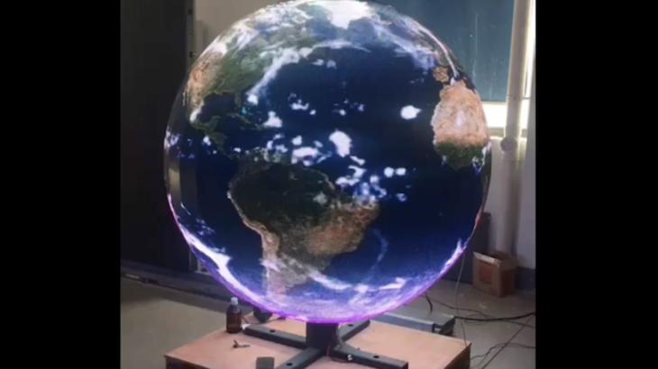 球体型LEDサイネージの表現